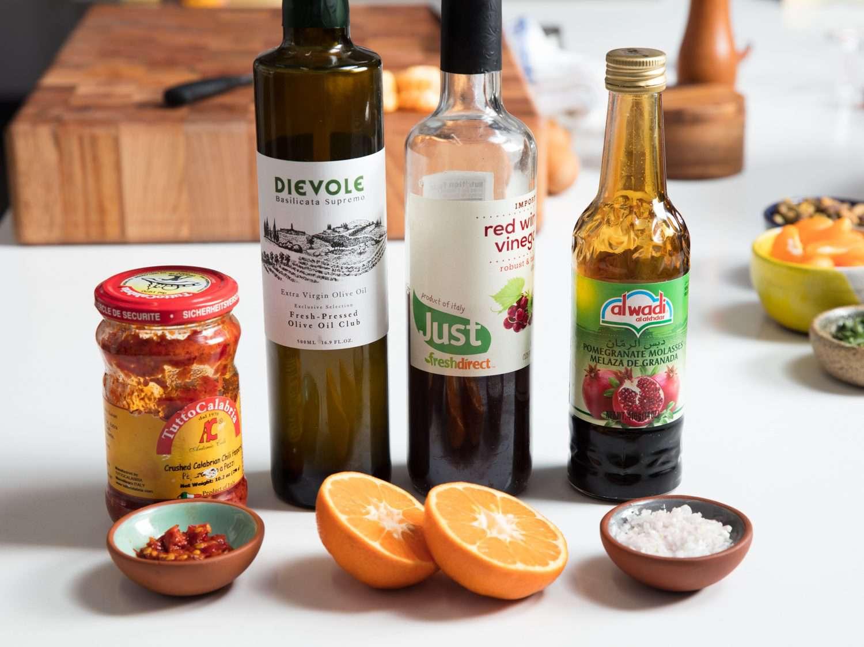 Ingredients for vinaigrette