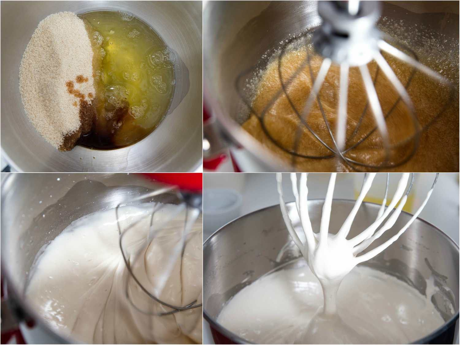 stages of making the meringue