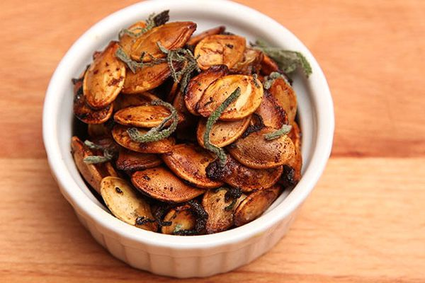 Pumpkin Seeds With Brown Butter and Sage