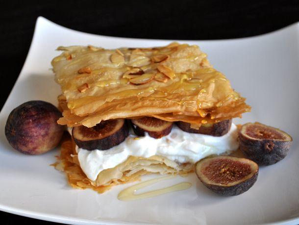 Fig, Phyllo, Honey Breakfast Stacks