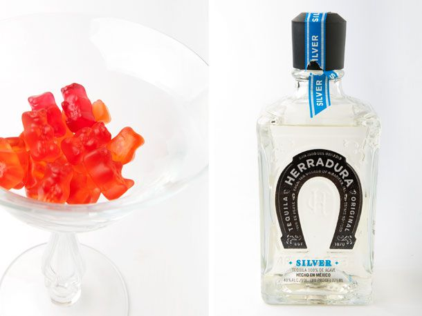 strawberry gummy bears and tequila