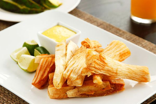 Fried Yuca with Spicy Mayo