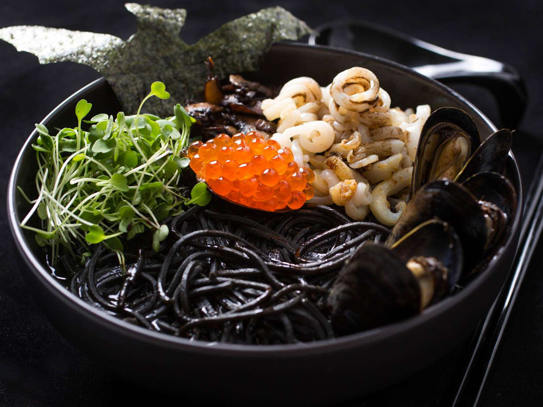 A black bowl of