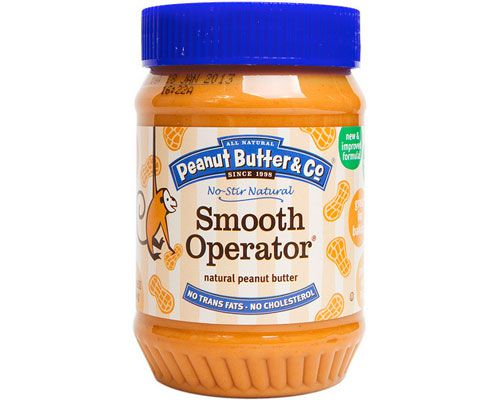 A jar of Peanut Butter & Co. smooth peanut butter.