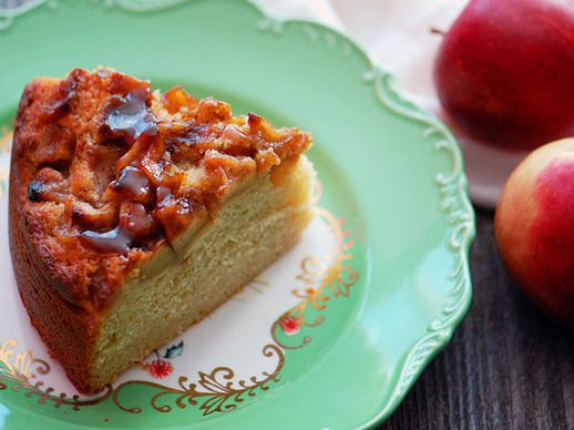 Maple Cake with Brown Butter Apples