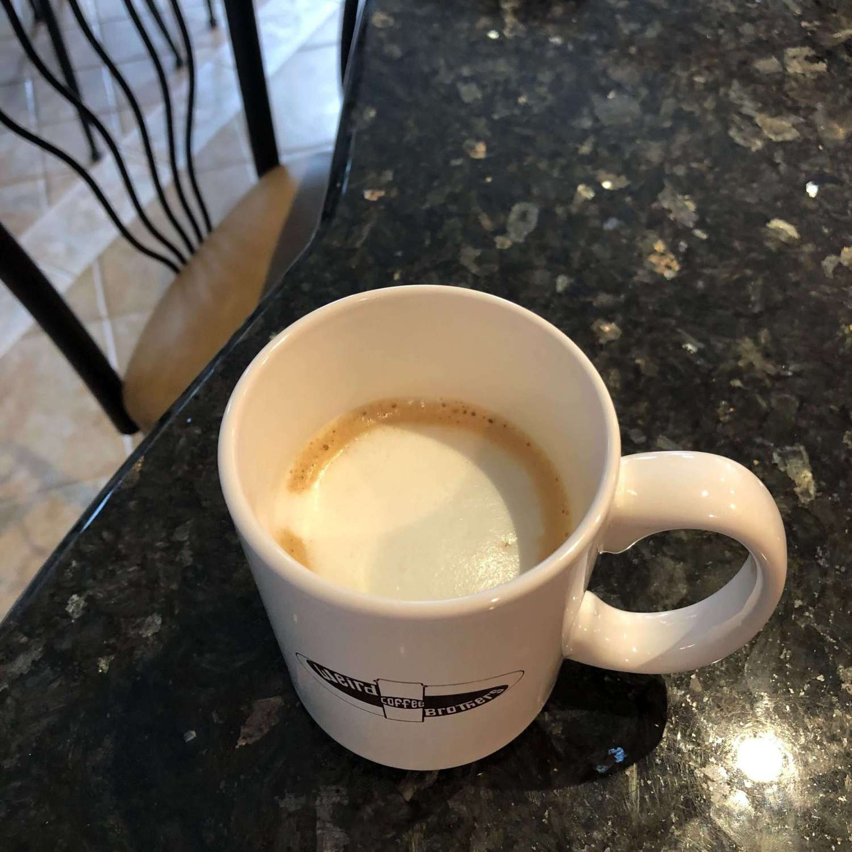 Yasmine's homemade cappuccino