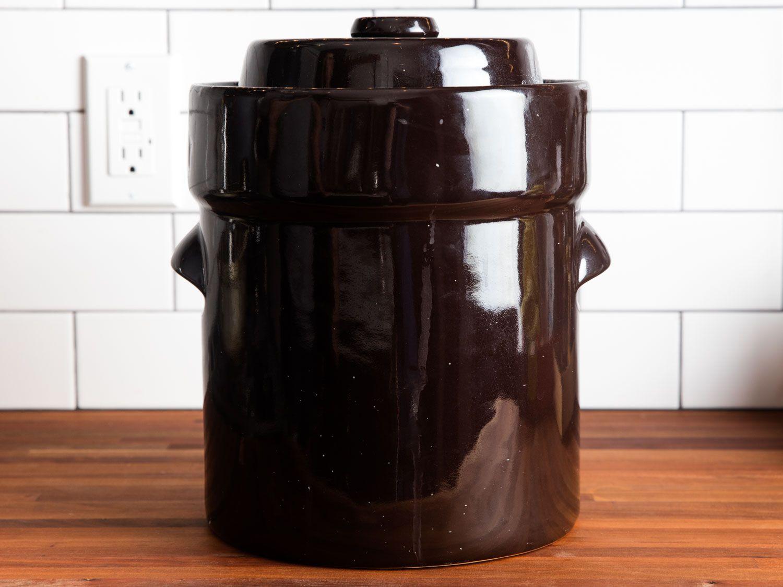 Black Ceramic Fermentation Crock