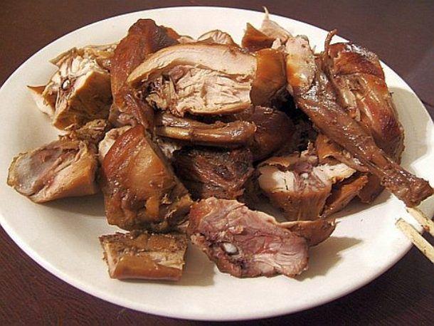Cha Xiong Tu (Tea-Smoked Rabbit) at Tian Jin Restaurant