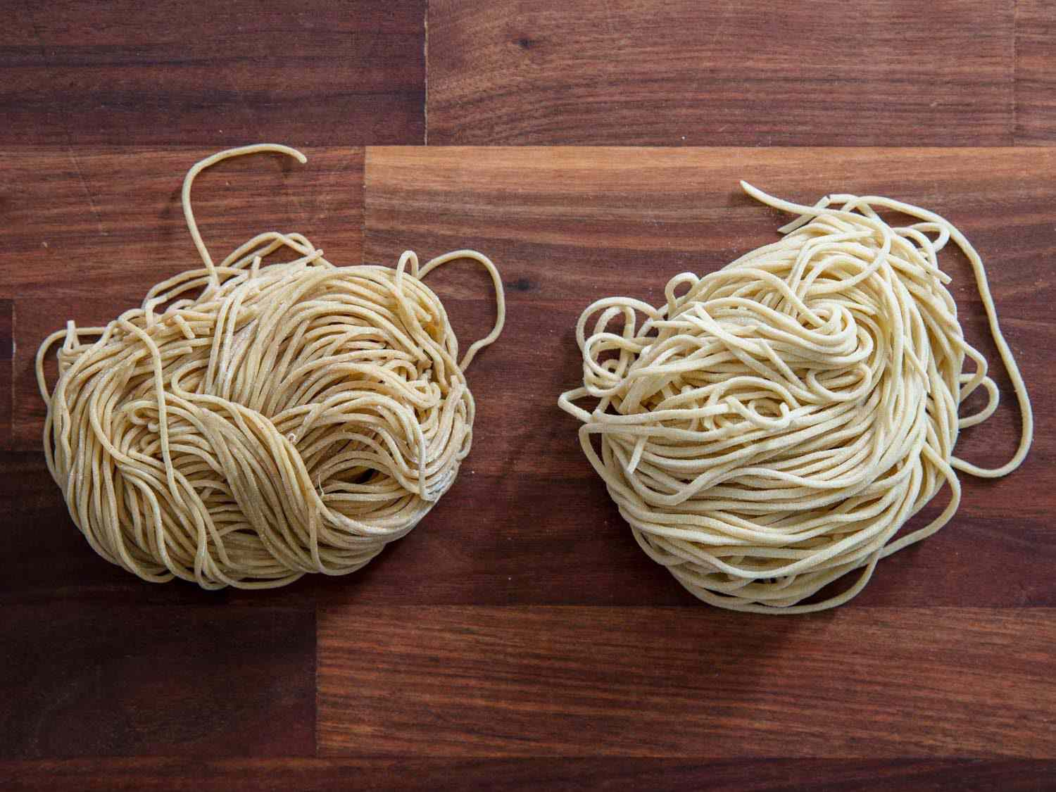 Shimamoto Noodles ramen and homemade ramen side by side