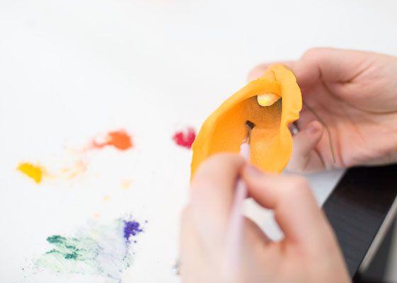 add luster dust gum paste flower
