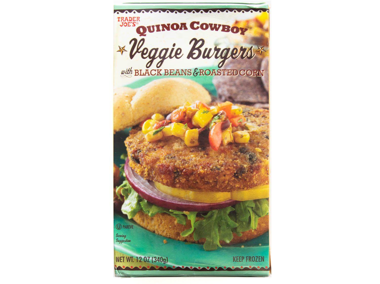 Product photo of Trader Joe's Quinoa Cowboy Veggie Burgers with Black Bean