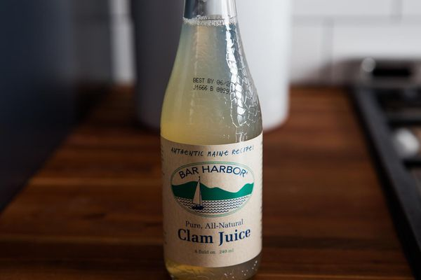 A bottle of clam juice.