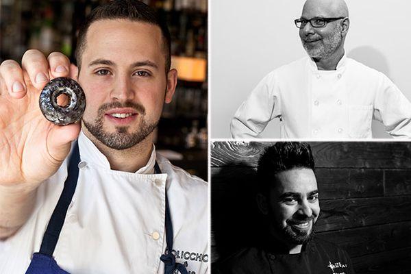 Pastry chefs Stephen Collucci, Ron Ben-Israel and Thiago Silva