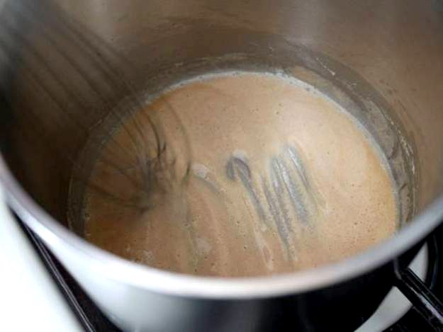 making Roux in a pot