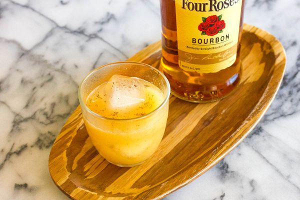 Bourbon and Pear Cocktail
