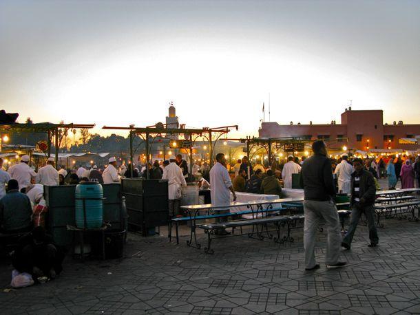 The Market at Dusk