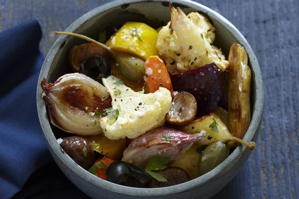 Glazed Winter Vegetable Medley With Chestnuts and Caper Berries