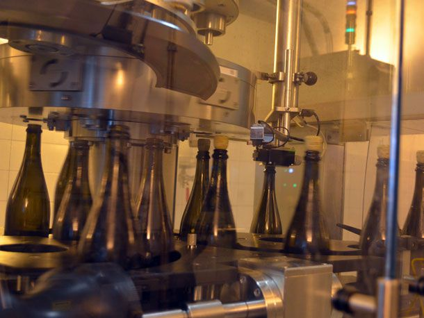 dosage added to champagne bottles
