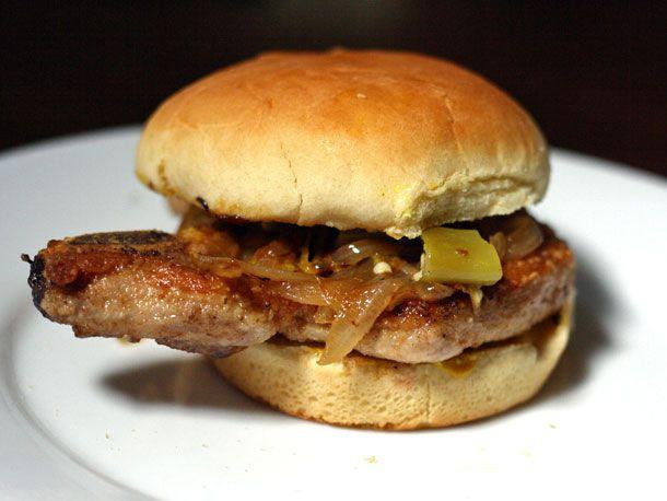 Bone-In Pork Chop Sandwich