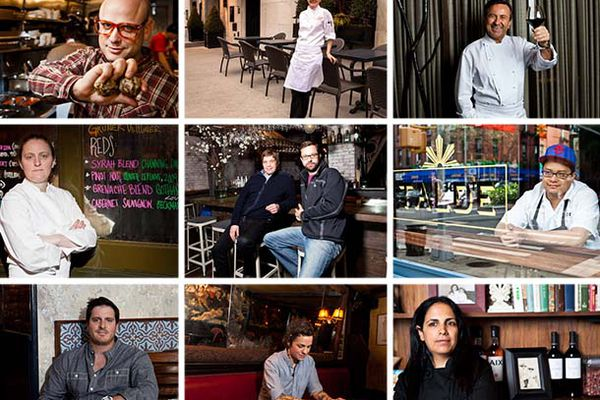 New York chefs from our We Chat With... column. Photos by Brent Herrig.
