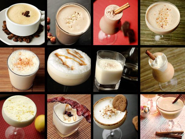 Eggnog collage