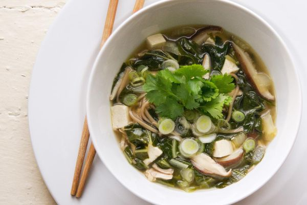 Soba Noodle Soup With Chicken, Tofu, and Bok Choy