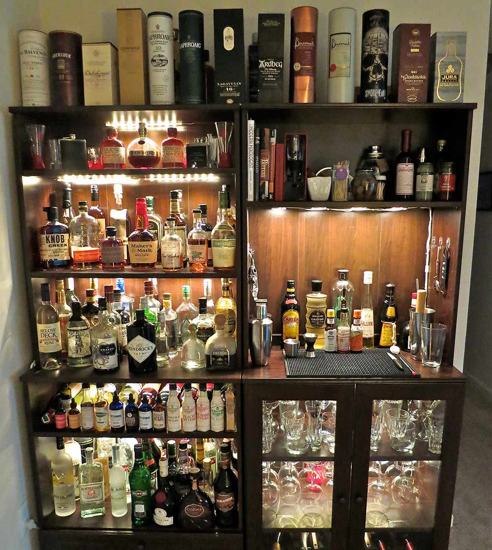 fully functioning home bar