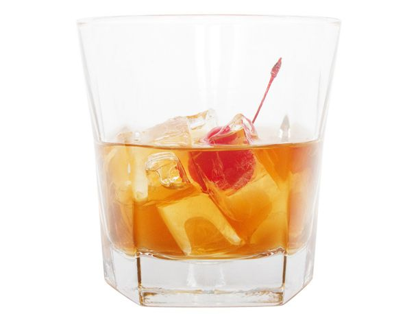 Vieux Carré with a cherry and ice