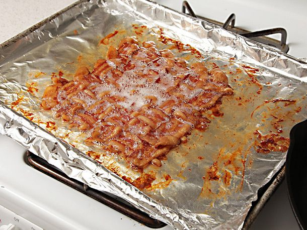 bacon weaved together