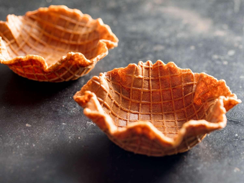 homemade waffle bowls