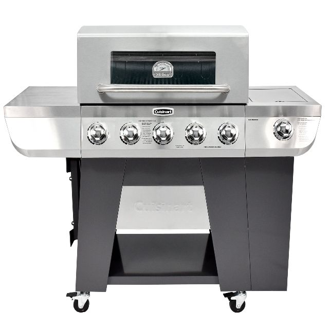 Cuisinart 3-In-1 Stainless Five-Burner Propane Gas Grill