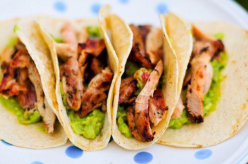 beer-marinated chicken tacos
