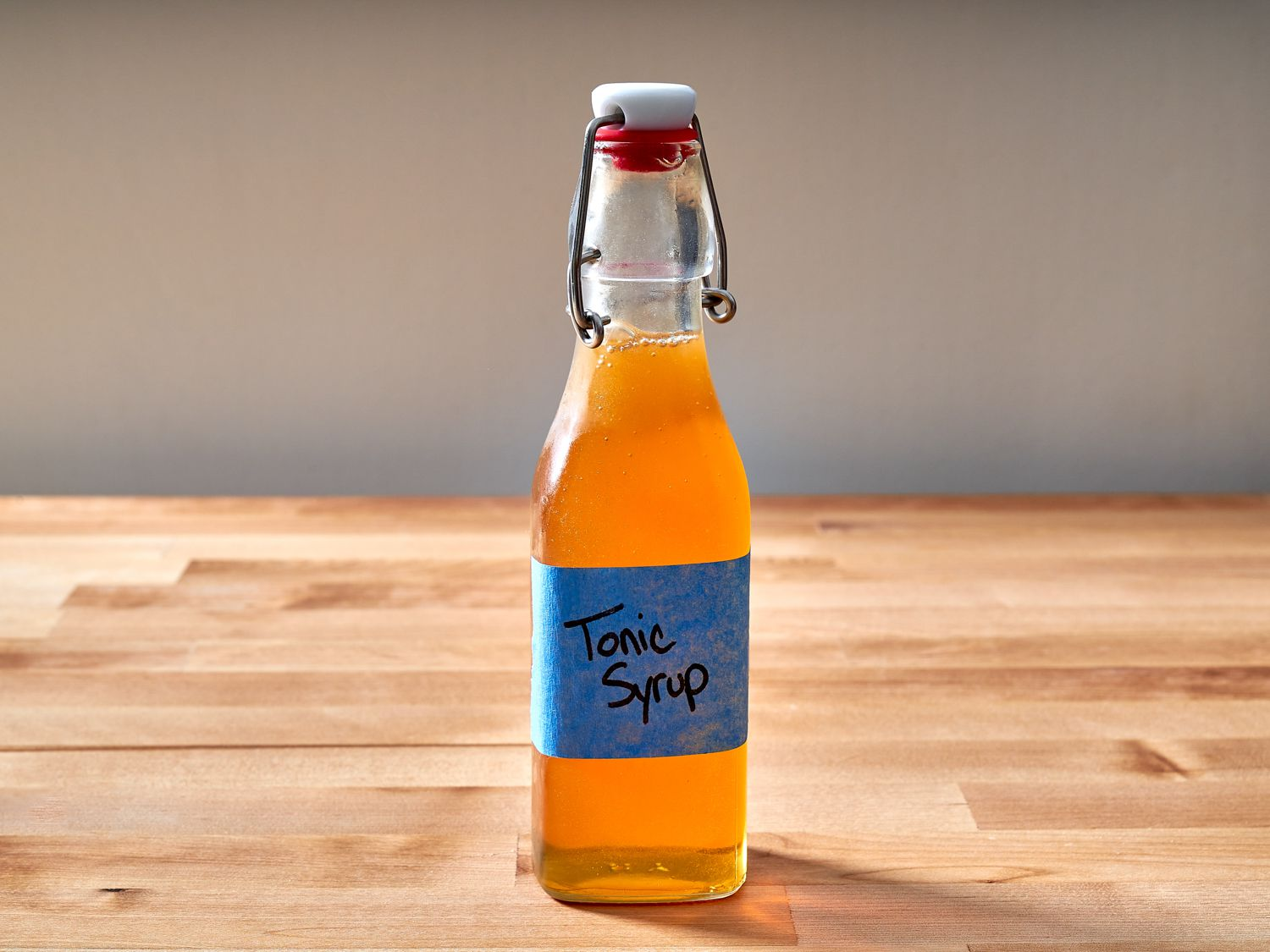 Tonic syrup in a sealed bottle