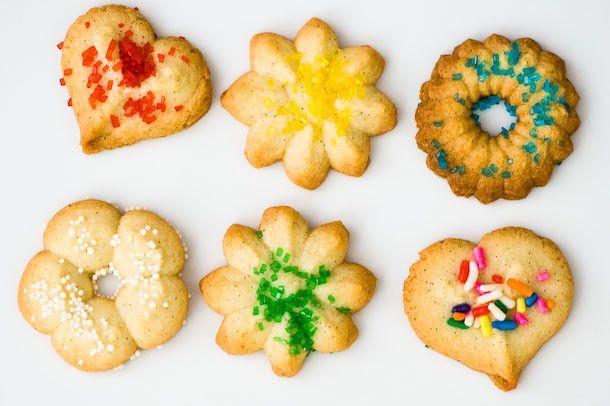 decorated Spritz cookies