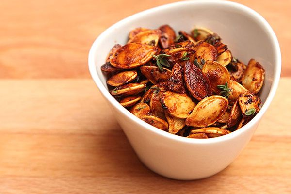 Pumpkin Seeds With Honey Mustard and Thyme