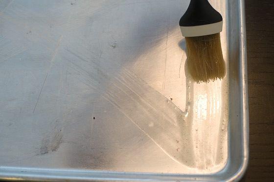 greased sheet cake pan