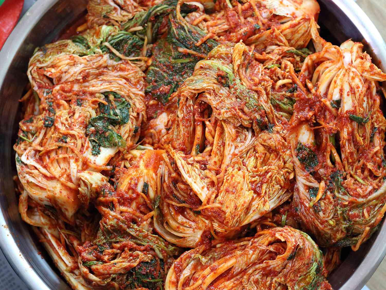 bowl full of baechu kimchi