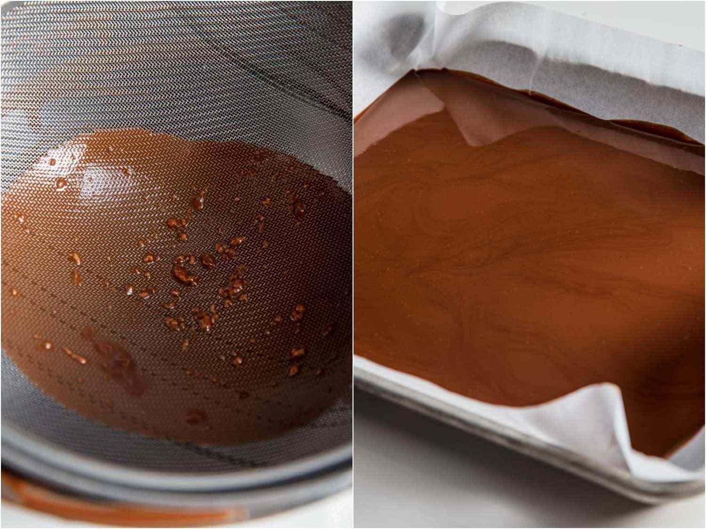 straining leftover coating for re-use
