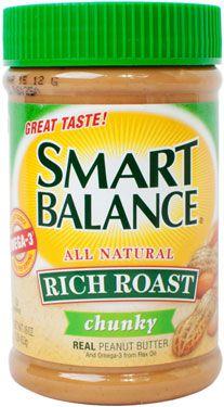 A jar of Smart Balance Rich Roast Chunky Peanut Butter