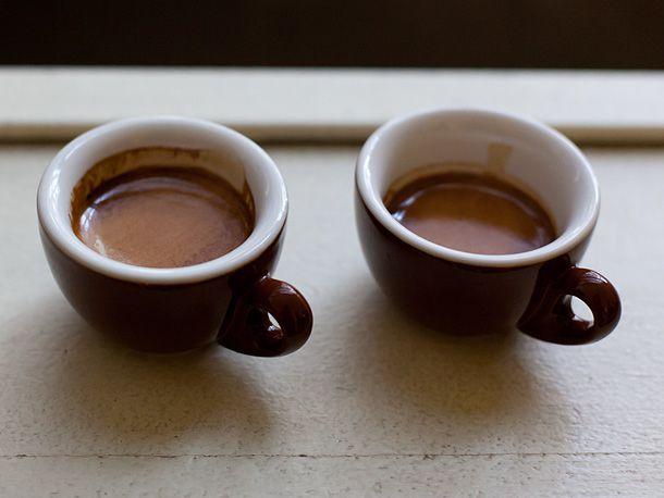Espresso and Espresso ristretto