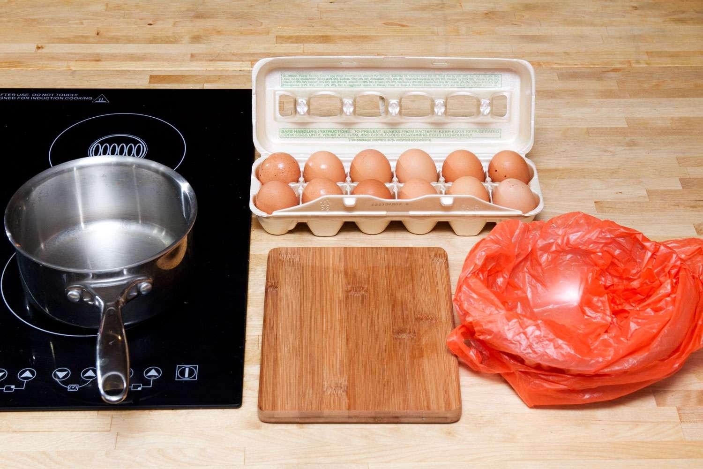 separating eggs for homemade ice cream