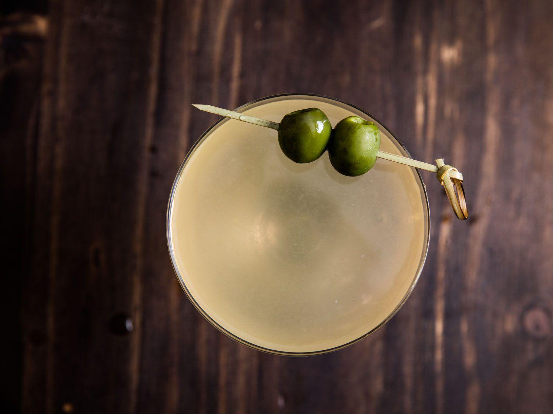 Martini Oaxaqueño (Mezcal Dirty Martini With Castelvetrano Olives)