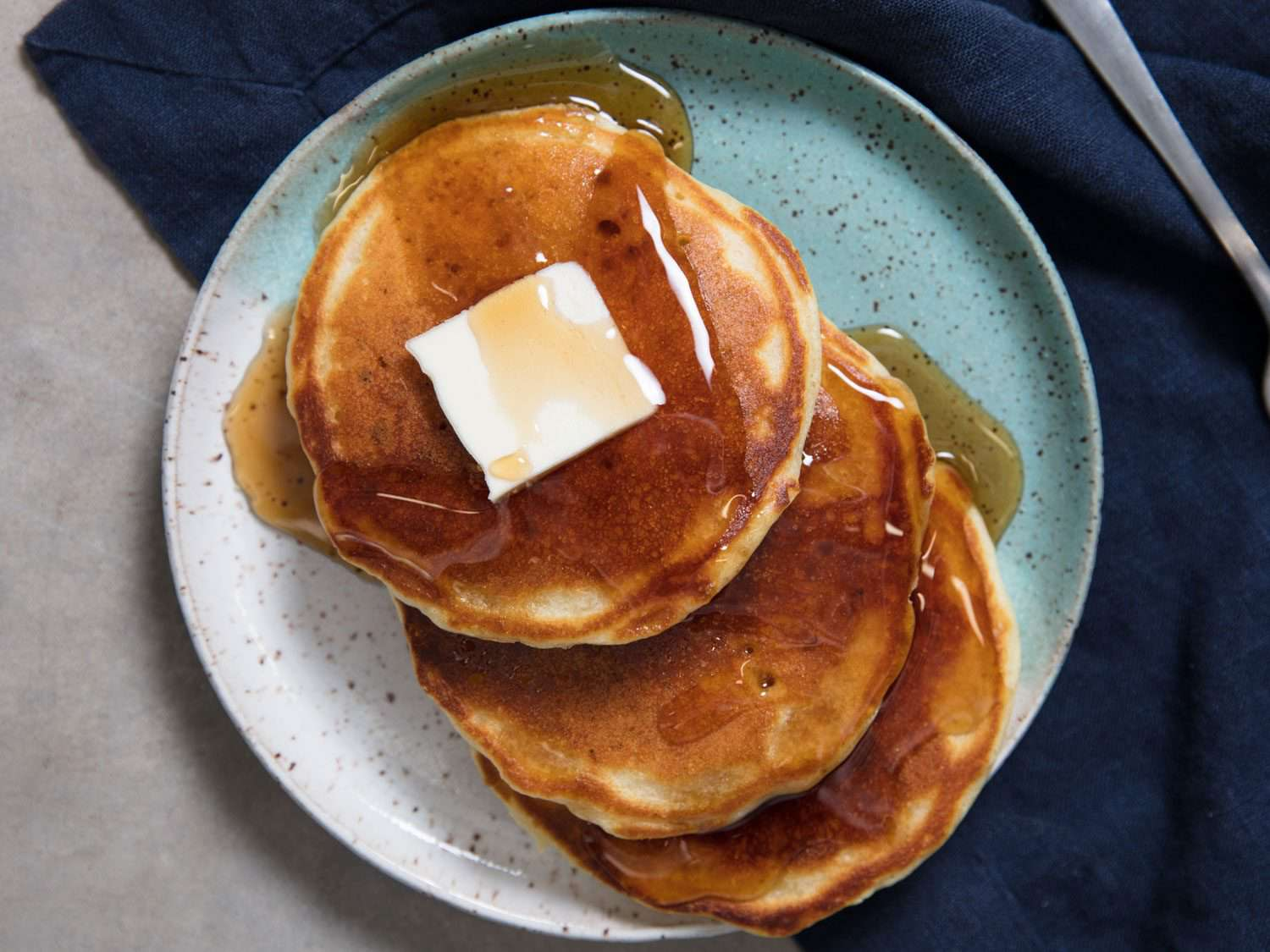 thin and fluffy pancakes