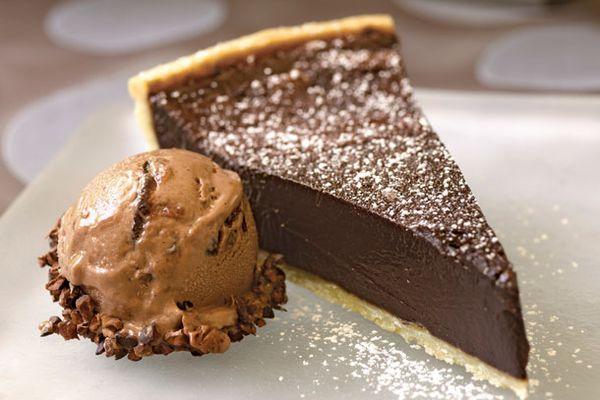 chocolate bourbon fudge tart