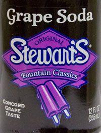 Stewart's grape soda