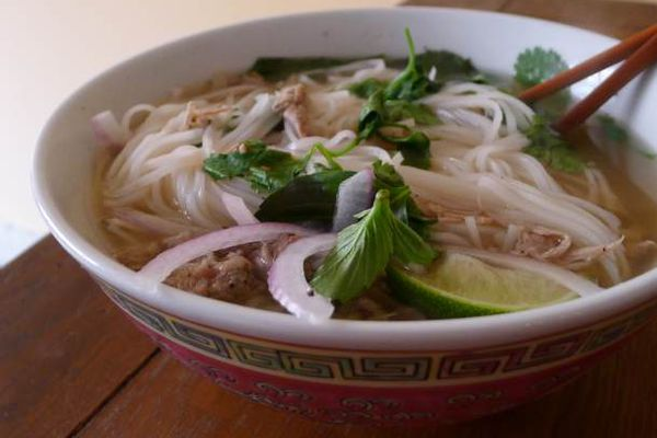 A bowl of duck pho.