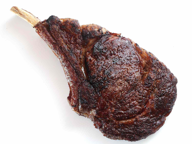 Reverse-seared ribeye steak