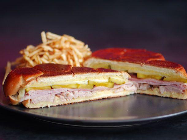 A Cuban Medianoche sandwich