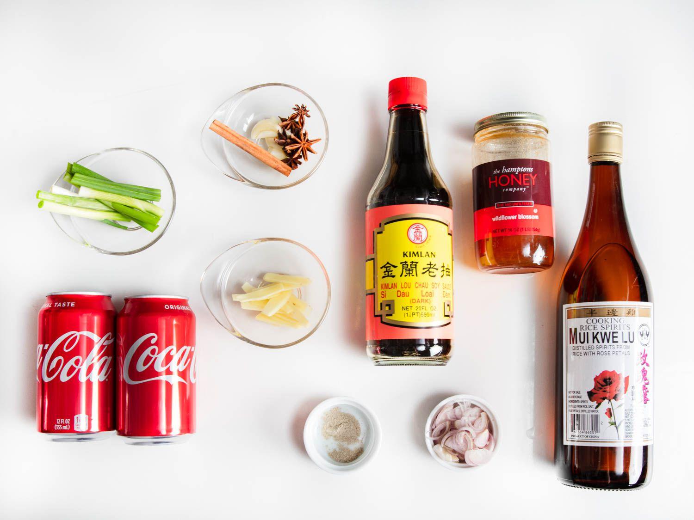 Ingredients for Coca-Cola Chicken