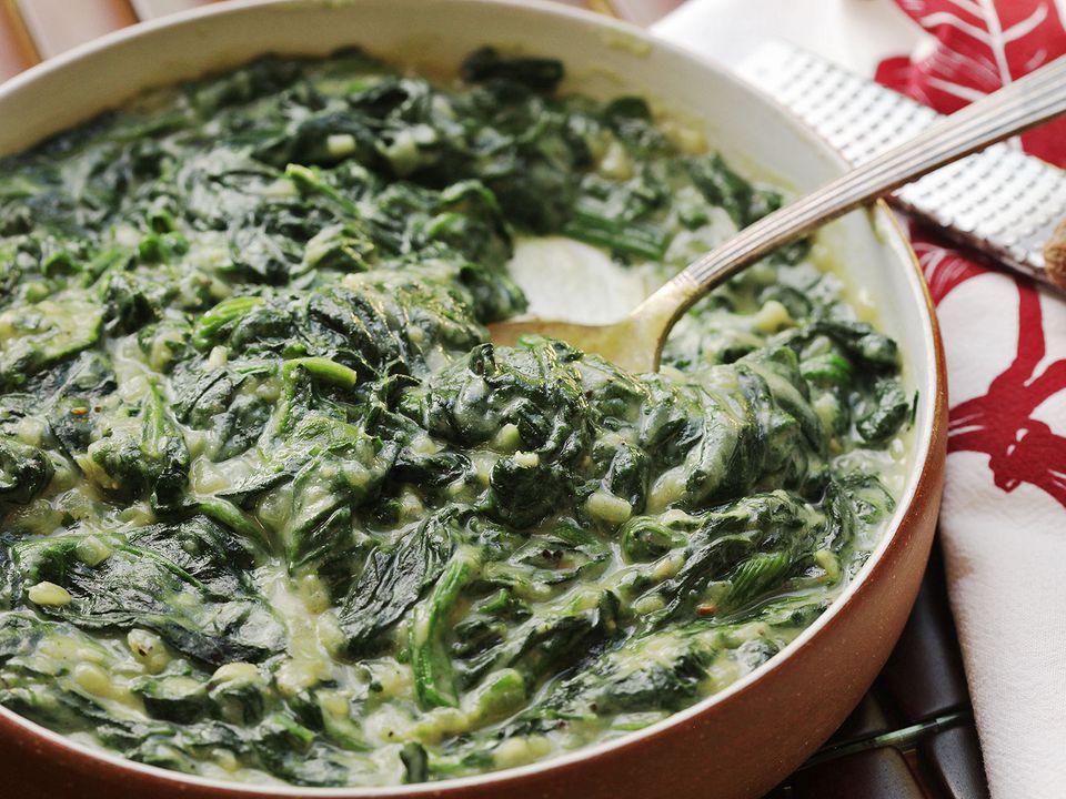 Cauliflower-creamed spinach